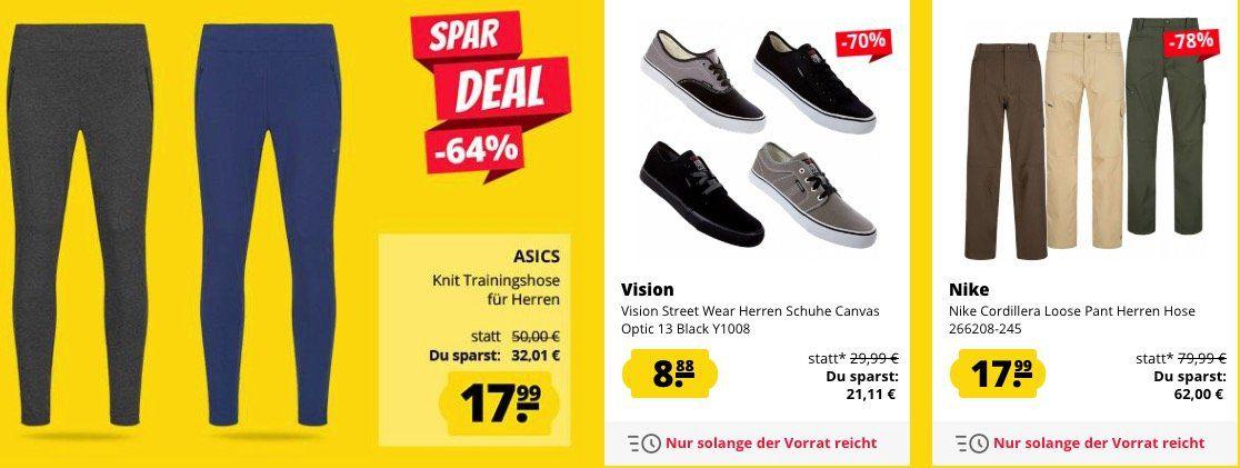 Bis 11 Uhr: SportSpar ohne Versandkosten (sonst 3,95€)   z.B. Under Armour Laufschuhe nur 11,11€ (statt 32€)