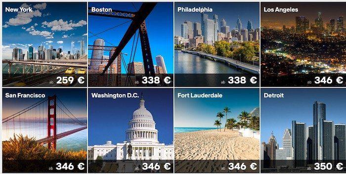 Lufthansa Nordamerika Spezial   z.B. nach New York ab 259€ oder Las Vegas ab 371€