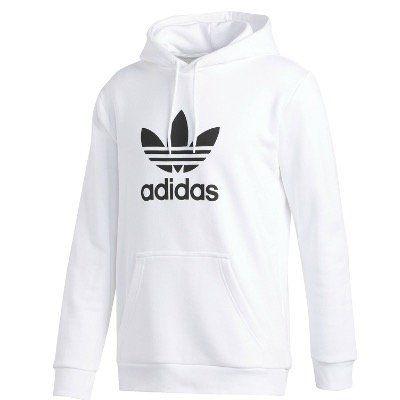 Ausverkauft! adidas Originals Trefoil Herren Kapuzenpulli in Weiss für 29,95€ (statt 50€)