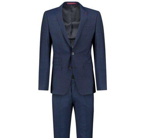 Roy Robson Anzug mit Reverskragen Slim Fit in Blau für 169,90€ (statt 240€)