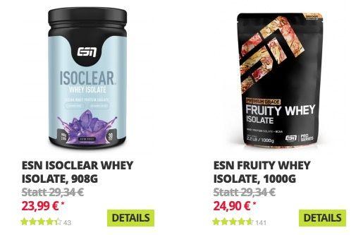 Fitmart: bis zu 50% Rabatt auf fast Alles von ESN   z.B. günstig Whey und Ergänzungsmittel