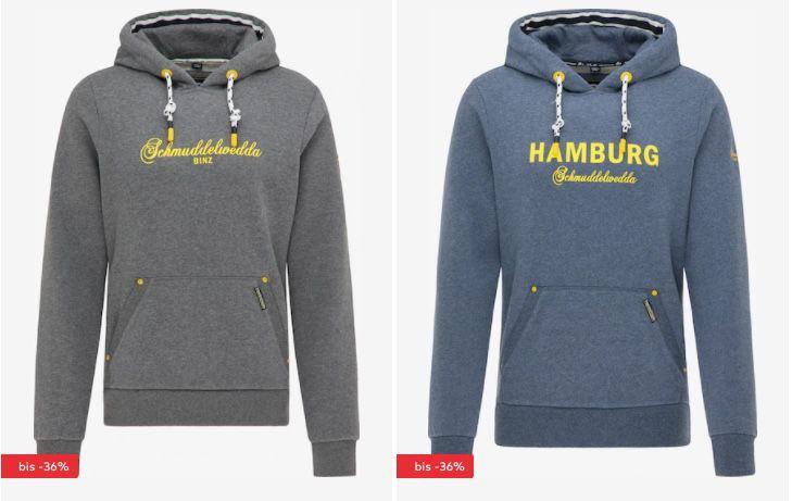 Schmuddelwedda Sale + 20% Extra Rabatt   z.B. Sweatjacke mit Kapuze für 83,17€ (statt 105€)