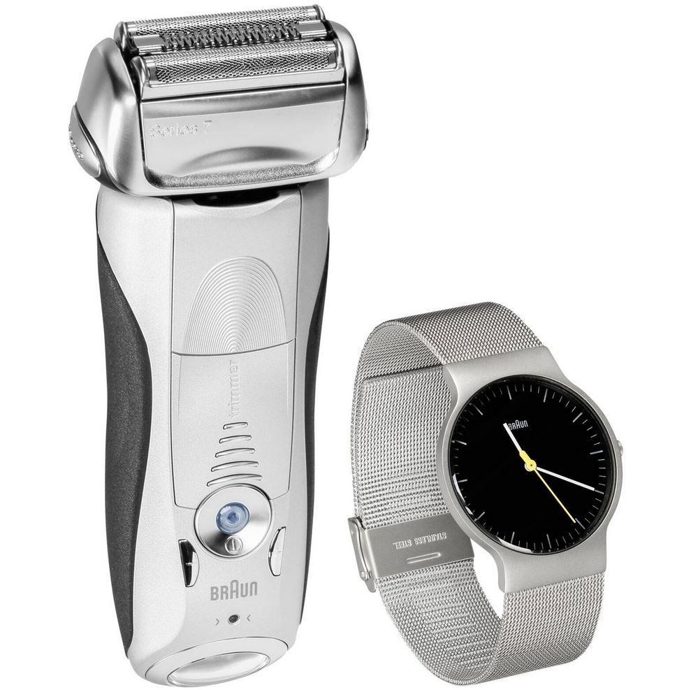 Braun Series 7 7893s Wet & Dry Herren Akkurasierer + BRAUN Uhr für 116,96€ (statt 128€)
