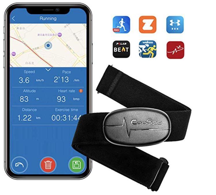 CooSpo Herzfrequenzmesser Brustgurt mit Bluetooth 4.0 für 12,31€ (statt 31€)