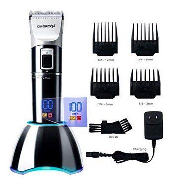 DEERCON Haarschneidemaschine mit Display und Lithium Akku für 19,99€ (statt 32€)