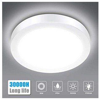 Solmore LED-Deckenleuchte 18W IP54 für z.B. Badezimmer für ...