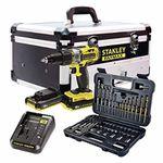 Stanley FatMax Kitaus Schlagbohrschrauber 18V und 50teiliges Zubehörpaket (2 Akkus + Ladegerät + Alu-Koffer) für 142,11€ (statt 215€)