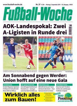 12 Ausgaben Fußball Woche für 36€ + 35€ Gutschein
