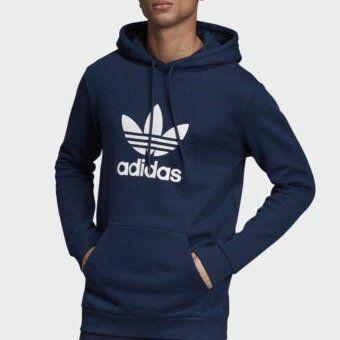 adidas Originals Trefoil Herren Kapuzenpulli in Blau für 33