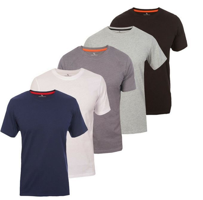 Roberto Barini Herren Kurzarm T Shirt Rundhals 5er Set für 24,99€ (statt 40€)