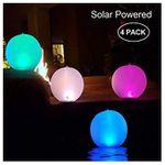 4er Pack Garten-LED-Solarlampen als 14″ Kugel wasserdicht IP68 für 32,99€