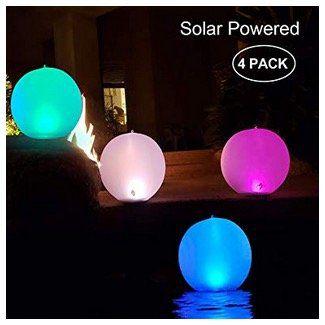4er Pack Garten LED Solarlampen als 14 Kugel wasserdicht IP68 für 32,99€