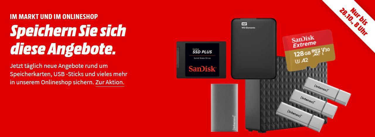 Media Markt Speicherwoche   z.B. CRUCIAL BX500 240 GB SSD, intern für 29€ (statt 36€)