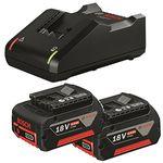 Bosch Schnellladegerät GAL 18V-40 Professional + 2 Bosch GBA 18V 4,0 Ah M-C Akkus für 89,10€ (statt 119€)