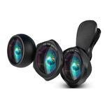 Luxsure Smartphone HD-Objektiv Set mit Weitwinkel + 15x Makro + Fisheye Objektiv für 20,39€ (statt 34€)