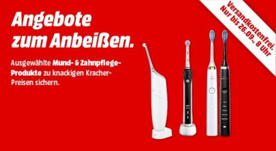 Media Markt eZahnputz Aktion: z. B. ORAL B Pulsonic Slim Luxe 4100 elektrische Zahnbürste Silber/Weiß für 49€ (statt 70€)