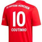 adidas FC Bayern Herren Heim-Trikot 2019/20 mit oder ohne Coutinho Flock für 62,96€ (statt 95€)
