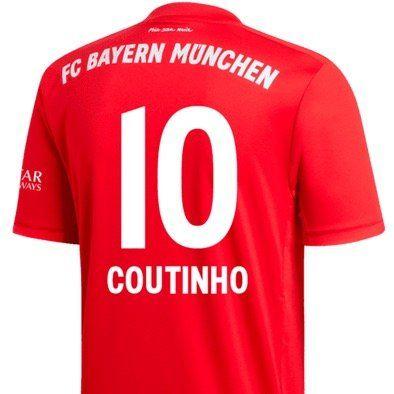 adidas FC Bayern Herren Heim Trikot 2019/20 mit oder ohne Coutinho Flock für 62,96€ (statt 95€)