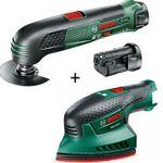 Bosch PMF 10,8 Li Akku Multifunktionswerkzeug inkl. 2x Akku + Multischleifer für 99€ (statt 193€)