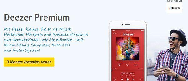 Drei Monate DEEZER Premium kostenlos für web.de Nutzer