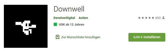 Android: Downwell kostenlos (statt 3,09€)