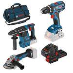 Bosch Professional 18V Set (Schrauber, Bohrhammer, Schleifer) für 549€ (statt 666€)