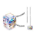 Alex Perry Damen-Halskette + Paar Ohrringe aus 925er Sterling-Silber mit Kristall von Swarovski für 12,99€ (statt 51€)