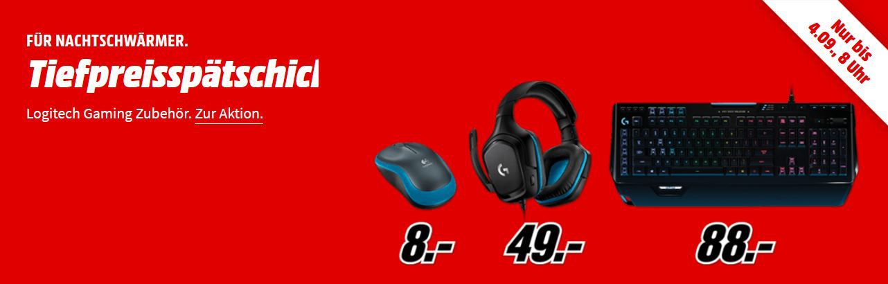 Media Markt Logitech Gaming Tiefpreisspätschicht: z.B. LOGITECH C270 Webcam für 17€ (statt 21€)