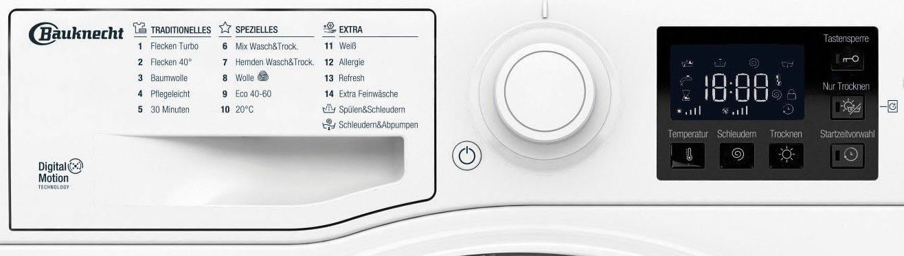 Bauknecht WT 86G4 DE Waschtrockner (8kg / 6kg) für 438,90€ (statt 518€)