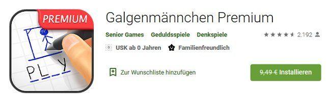 Android: Galgenmännchen Premium gratis (statt 9,49€)