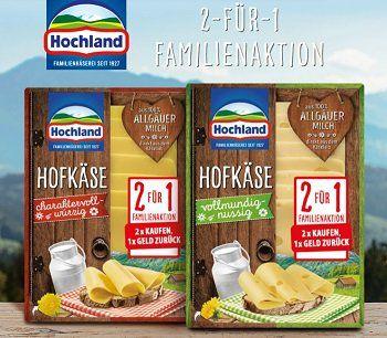 Hochland Käse: 2 für 1 Familienaktion