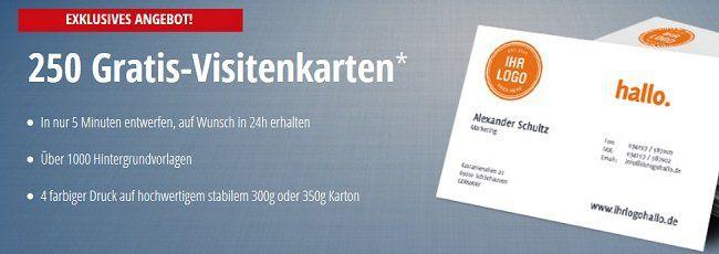 OvernightPRINTS: kostenlos 250 Visitenkarten erhalten zzgl. Versand