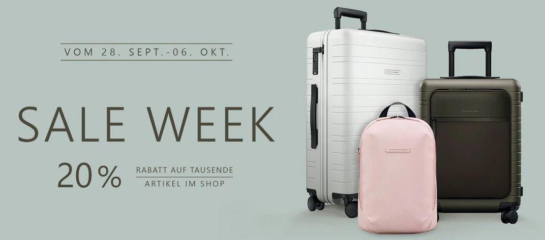 Koffer Direkt Sale Week mit 20% Rabatt auf ausgewählte Artikel
