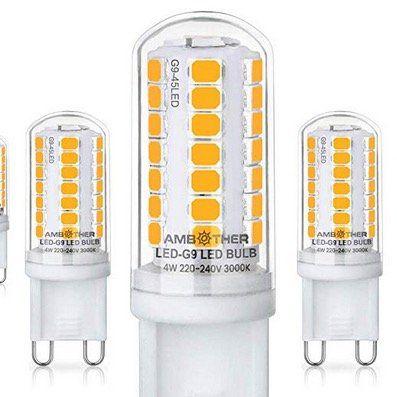 Ambother 5er Pack LED Lampen Sockel G9 mit je 4W für 6,24€ (statt 12€)