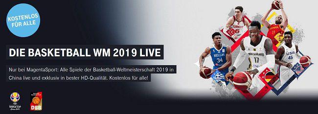 Baskettball WM 2019 kostenlos erleben