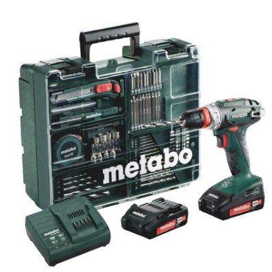 Metabo BS18 Quick Akku Bohrschrauber Set 18V mit 2 x 2Ah Akkus und Ladegerät für 125,95€ (statt 148€)
