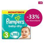 Pampers Windeln und Pants mit 33% Rabatt – z.B. Monatspackung ab 18,79€