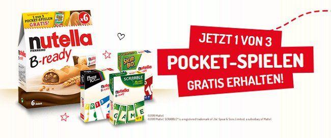 Gratis Pocketspiel mit nutella B ready