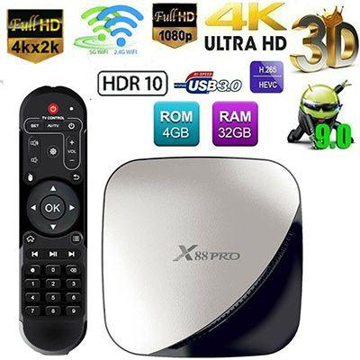 X88 PRO TV Box mit Android 9, 4/64GB & Dualband für 35,56€   aus DE