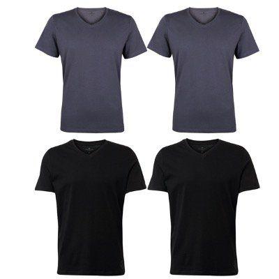 4er Pack Tom Tailor Herren Basic T Shirts in vielen Varianten für 26,95€ (statt 41€)