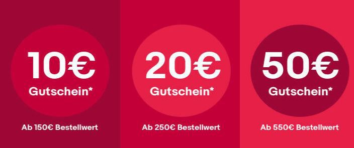 Endet heute: bis zu 50€ Rabatt bei eBay auf fast ALLES   günstig Apple, Samsung, LG etc.
