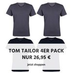 4er Pack Tom Tailor Herren Basic T-Shirts in vielen Varianten für 26,95€ (statt 41€)