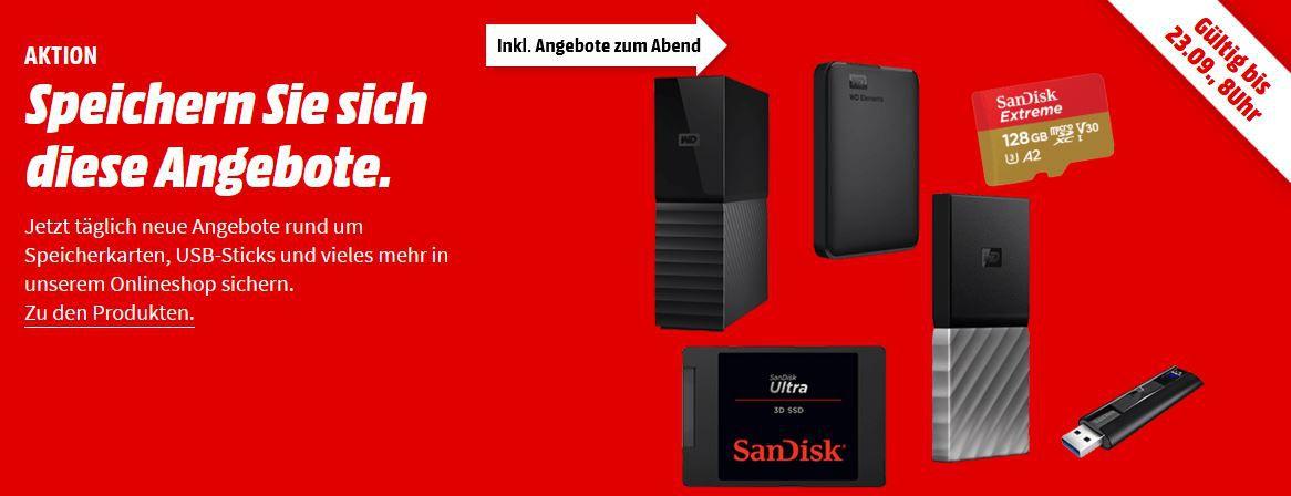 Media Markt Speicherwoche   z.B. SANDISK Ultra microSD 200 GB für 25€ (statt 33€)
