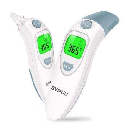 SVMUU digitales Infrarot Fieberthermometer für Ohr oder Stirn für 8,99€ (statt 18€)