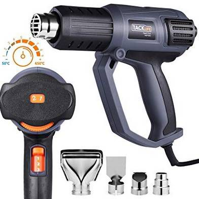 Tacklife HGP74AC 2000W Heißluftpistole bis 600°C & 4 Düsen für 20,99€ (statt 30€)