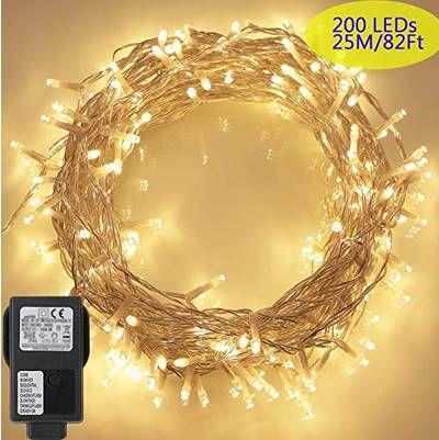 23m Deko Lichterkette mit 200 LEDs & 8 Modi für 9,91€   Prime