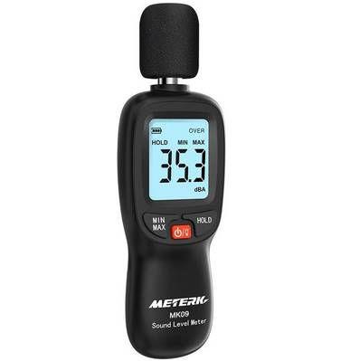 Meterk MK09   Schallpegelmesser mit LCD für 12,59€   Prime