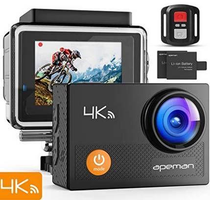 APEMAN A77   4K Actioncam mit 170° Weitwinkel für 36,99€ (statt 50€)