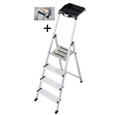 Krause Stufen Stehleiter Secury mit MultiGrip System und 8L System Eimer für 54,99€ (statt 80€)