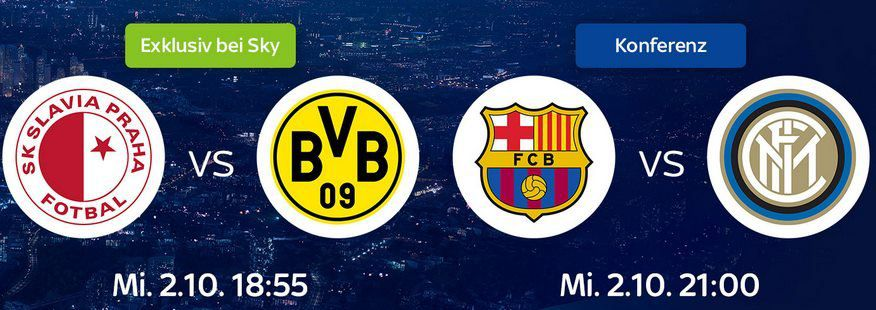 Heute: SLAVIA PRAG vs BVB & CL Konferenz   1 Monat Sky Supersport Ticket für 9,99€